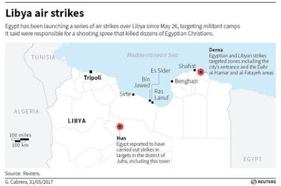 Libya air strikes map
