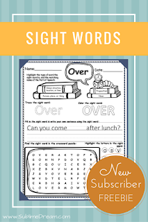 Free Sight Word Printables! Great for the k-2nd grade age range.