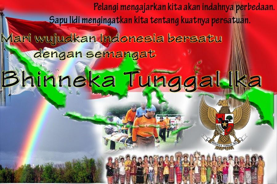 Gambar Poster Bhineka Tunggal Ika  Atonaru Blog