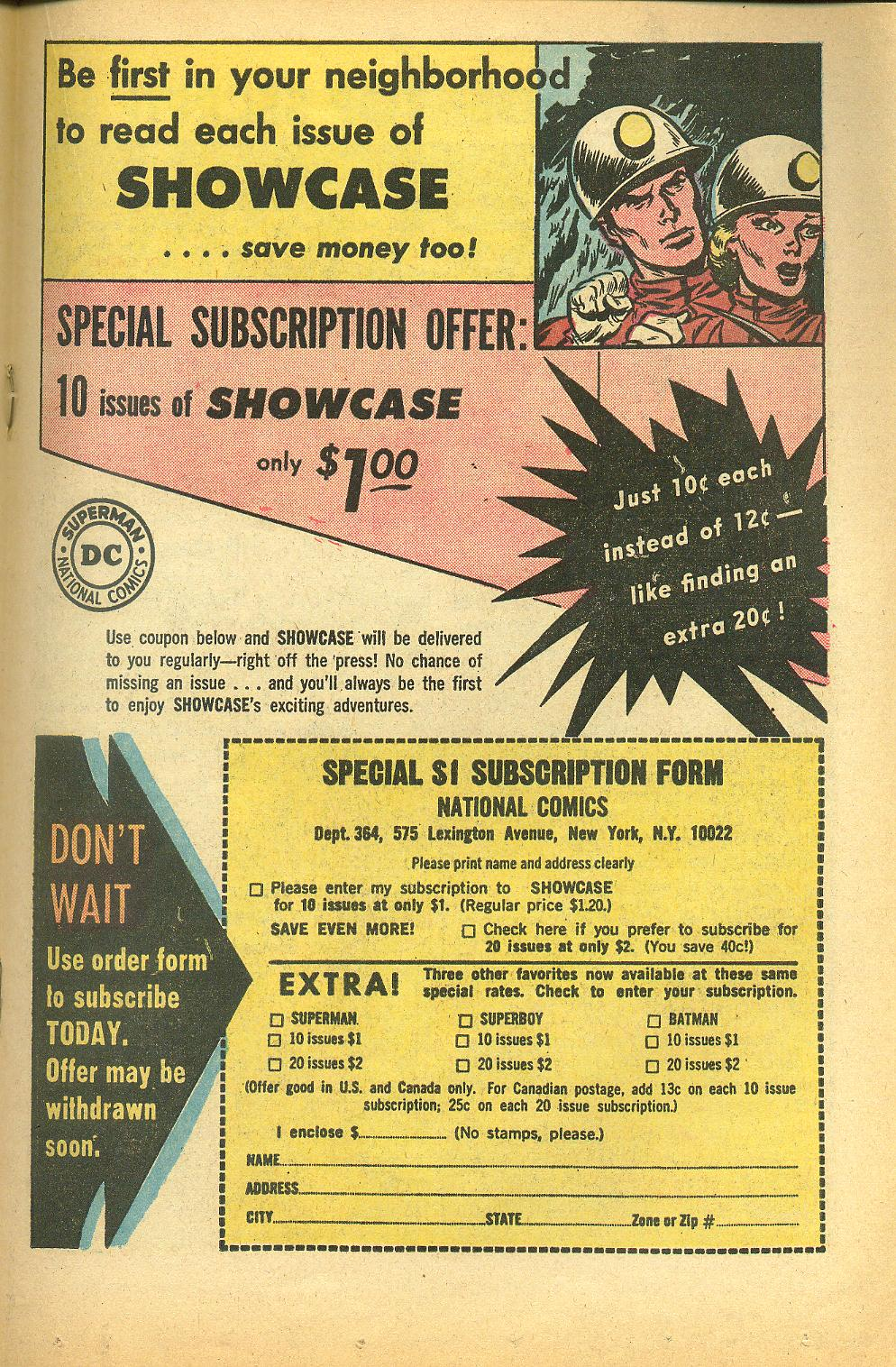 Read online Showcase comic -  Issue #50 - 19