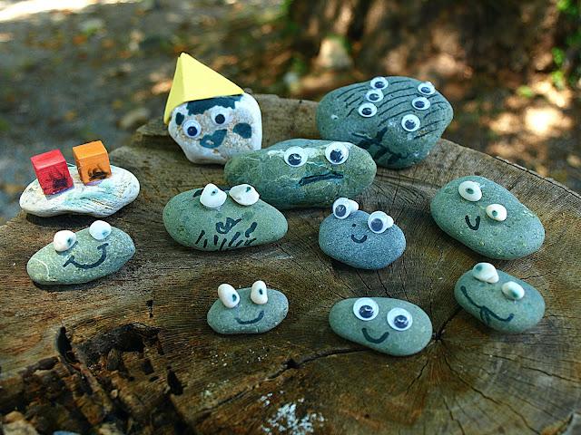 diy-βατράχια-σε-πέτρες