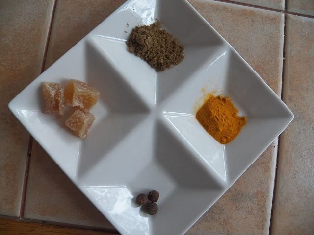 Ginger and Spice Tea ingredients