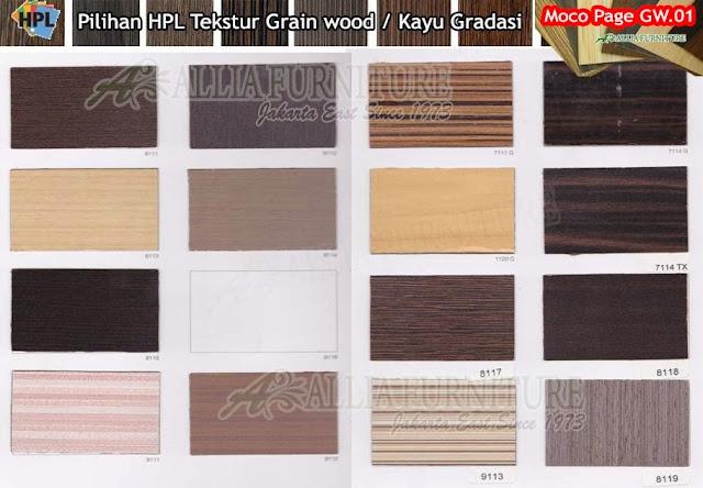 GW.01 HPL Moco motif tekstur Kayu gradasi
