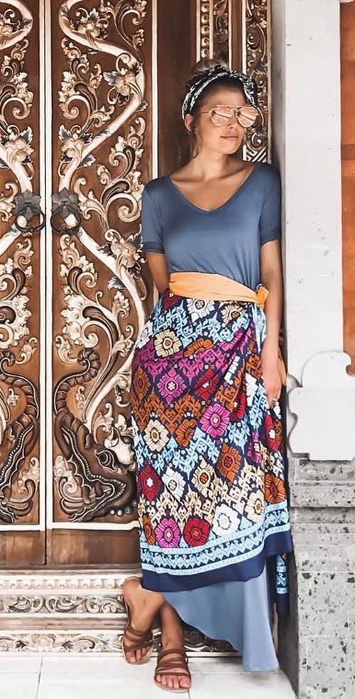 hippie maxi dress