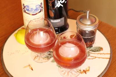 cocktail au lillet rouge