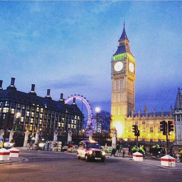 Big Ben and The London Eye, London