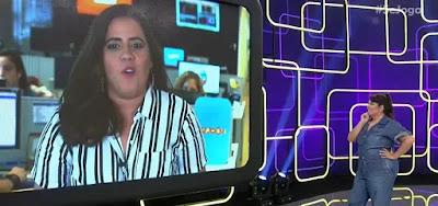 Tati Machado interage com Fabiana Karla no Gshow no Se Joga