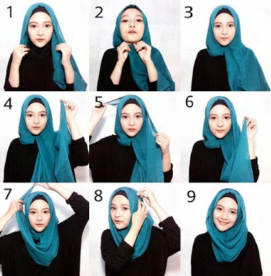 The Charm Of Beauty Tutorial Hijab Quadrilateral Simple Modern 2016
