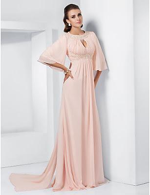 vestidos de gala largos con cola