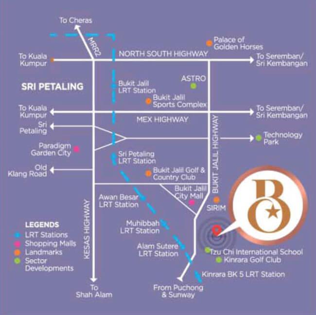 Residence Bintang Bukit Jalil Condominium Location