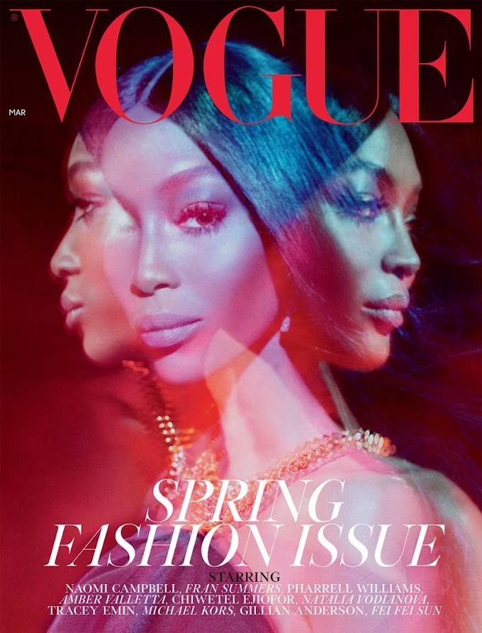 Naomi Campbell Covers the March Issue of British Vogue