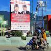 Baliho Ucapan Selamat kepada Prabowo sebagai Presiden Terpasang di Sulteng