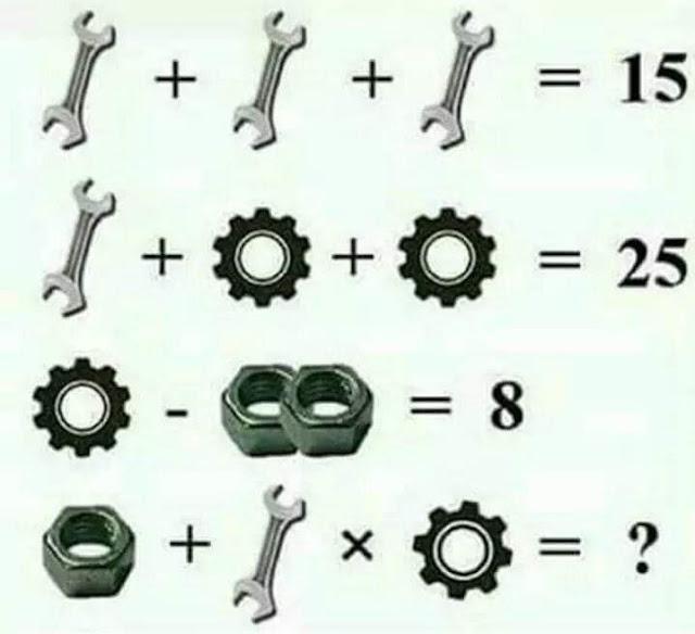 Math Puzzle - Spanner gear bolt