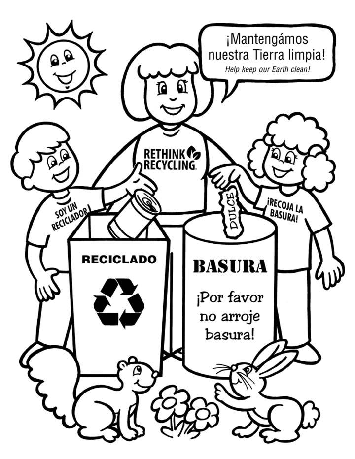Reciclaje Para Colorear Ciencias Compartidas
