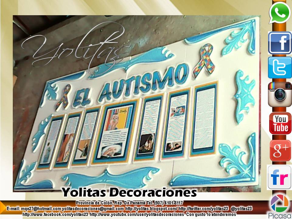 Yolitas decoraciones mural para tablero el autismo - Esquineras de pared ...