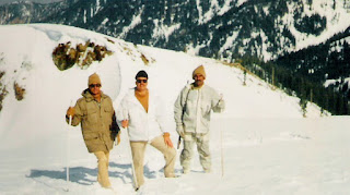 Raheel Shareef During  Mountain Climbing