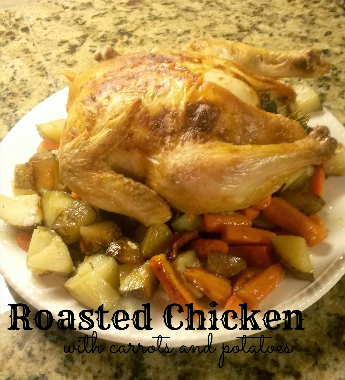 Skillet Chicken With Roasted Potatoes Carrots Recipe: Goat & Lulu: Roasted Chicken With Carrots And Potatoes