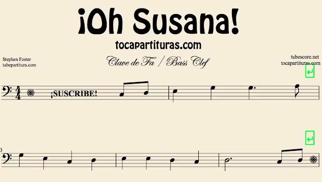 10 Partituras Populares Tradicionales 1º Partituras de Oh Susana Sheet Music