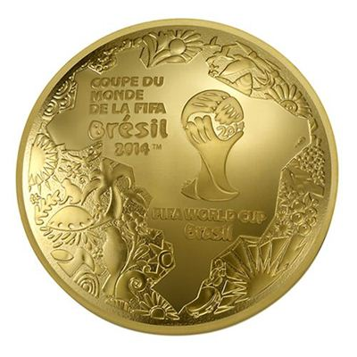 Domed Shaped 2014 Fifa World Cup Coin Lunaticg Coin