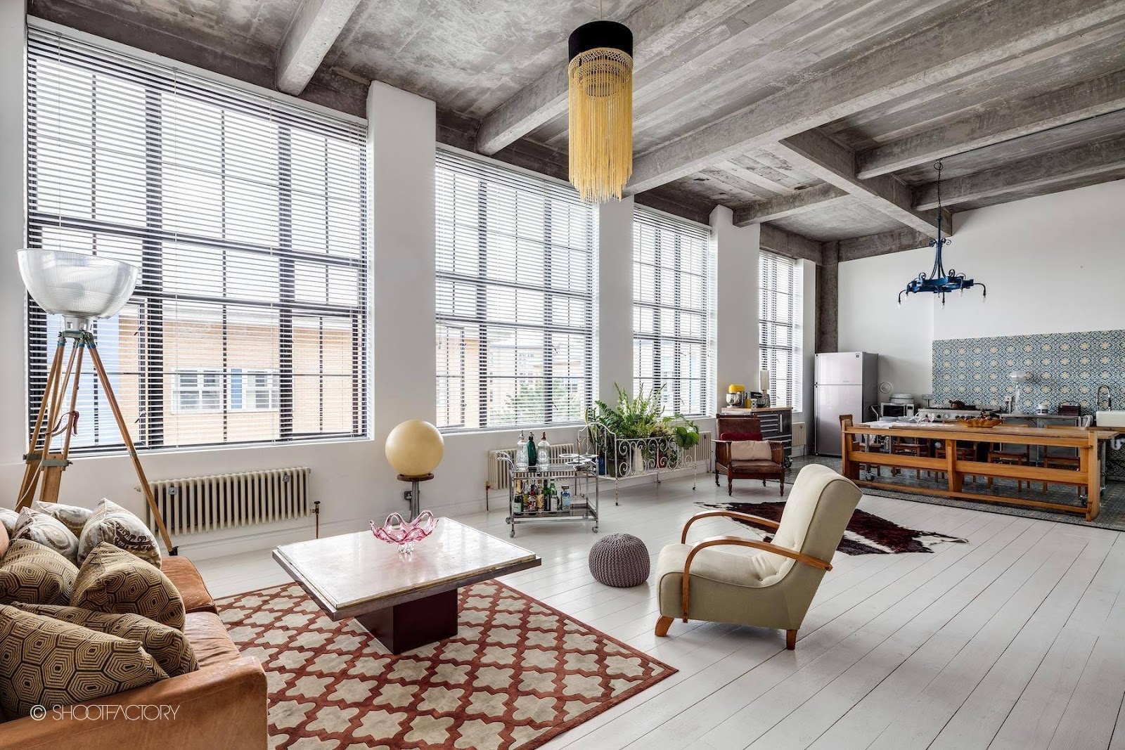 Loft Amenagement Interieur Interior Loft Industrial Retro Muy Personal En Londres