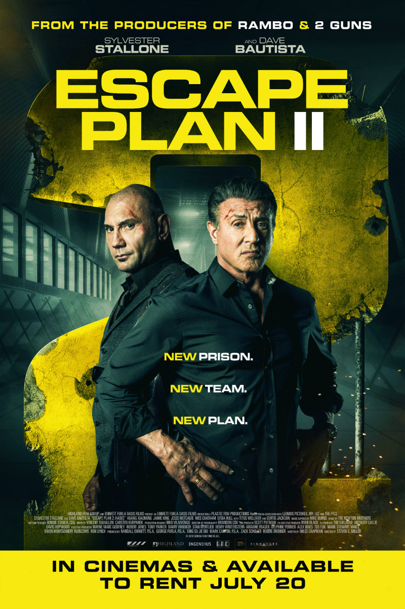 ESCAPE PLAN 2 poster