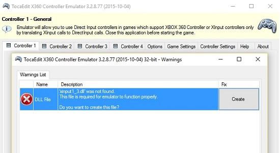instalando o emulador x360ce