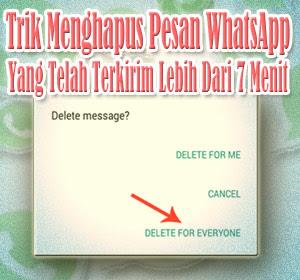 Trik Menghapus Pesan WhatsApp yang Telah Terkirim Lebih Dari 7 Menit