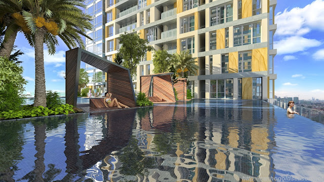 Bể bơi ngoài trời chung cư GoldSeason