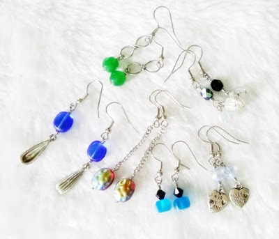 Wire wrapped dangle earrings by WireBliss