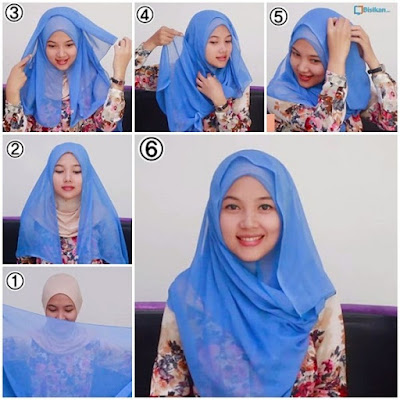 Tutorial Hijab Segi 4 Simple