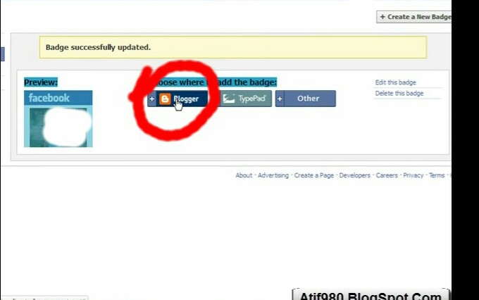 How To Add Facebook Profile Badge On Your Blogger Blog