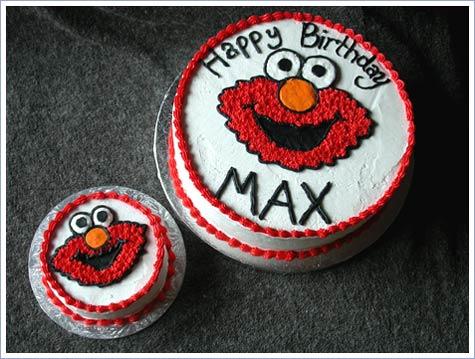 Cake Place Elmo First Birthday Cake with Smash Cake