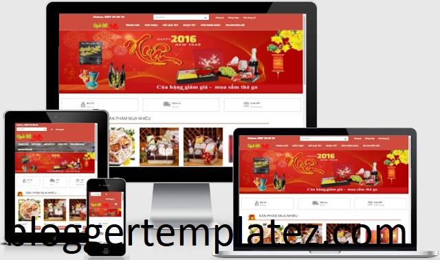Mẫu template blogspot bán hàng
