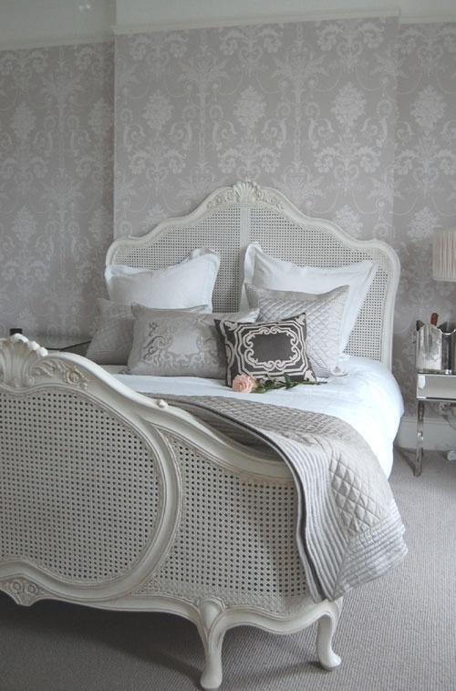 Romantic Bedroom Gray and White
