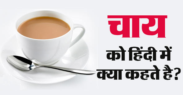 What is the name of Tea in Hindi