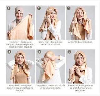 Tutorial hijab scarf segi empat untuk lamaran