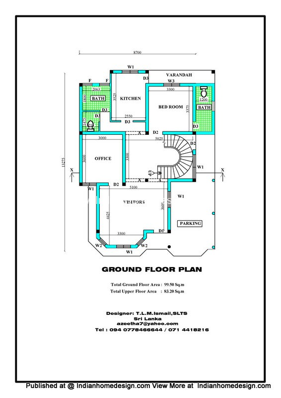 Dream Home Plan From Architectural Designer Tlm Ismail