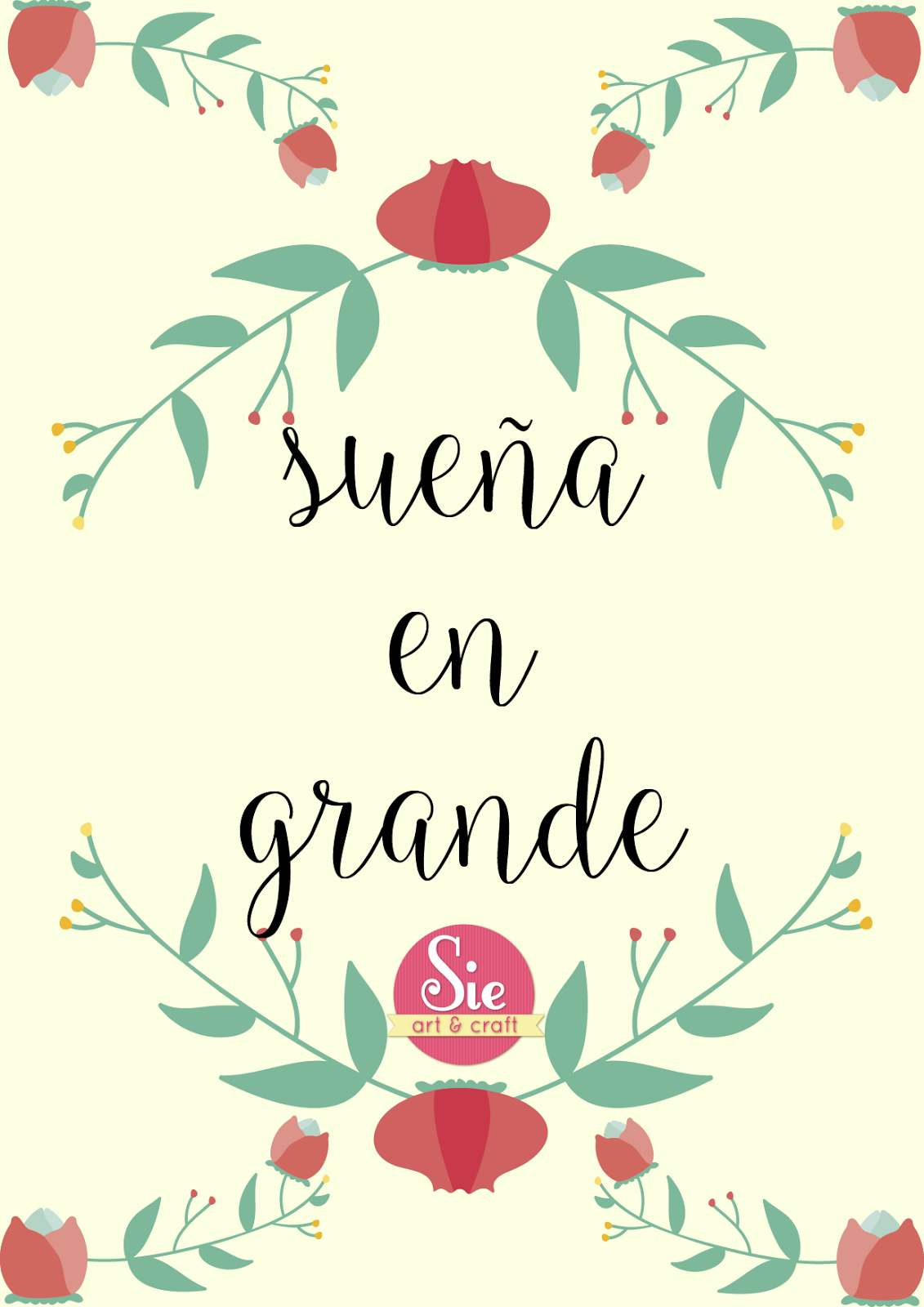 Sie Art Craft Sueña En Grande