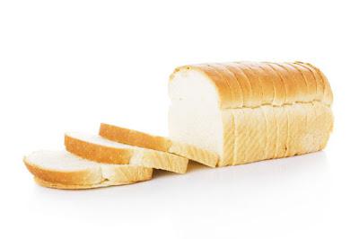 roti tawar putih dan kulit berminyak