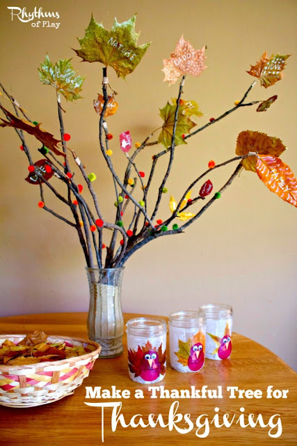 15 AWESOME Gratitude Filled THANKSGIVING DAY Ideas - THANKFUL TREE