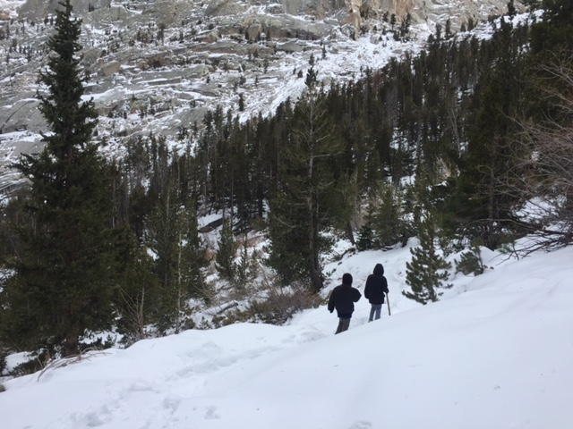 Ziggy-Rocket-Jo-Hiking-Mount-Whitney-Trail-Winter-Snow