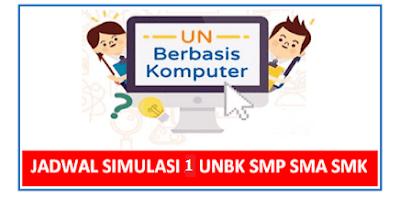 Perkiraan Jadwal Simulasi 1 UNBK SMP SMA SMK 2019