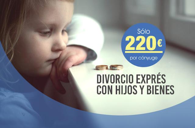 Divorcio exprés con hijos y bienes desde 220€