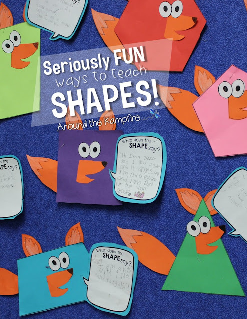 Seriously FUN Ways to Teach Shapes!- 2D and 3D shapes activities your students will love!