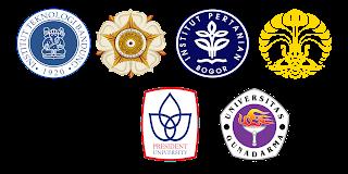 Beberapa Logo PTN dan PTS di IndonesiA