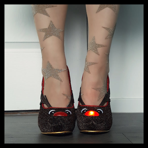 wearing irregular choice santa's ninth shoes lights