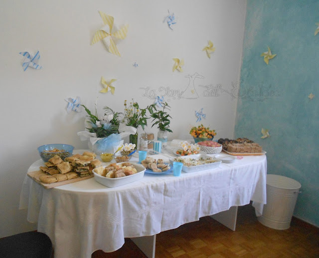La TEI , buffet per battesimo maschio