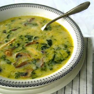 Ioanna's Notebook - Mageiritsa (Greek Easter Soup) with mushrooms