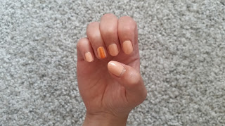 Clothes & Dreams: NOTD: A Stripe of Orange: Catrice Ultimate Nudes, Inglot 310