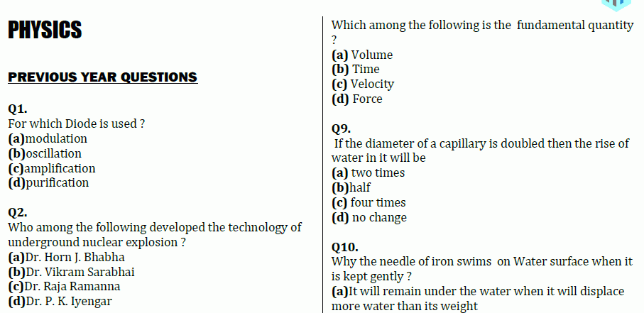 1100 General Science Question & Answer PDF- (Physics + Chemistry +